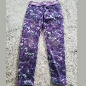 Nike Pro Purple Geometric Leggings Size 6X